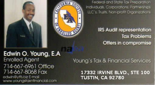 Edwin O. Young, EA Enrolled Agent Tax & Financial Services